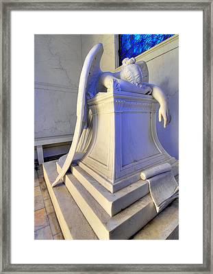 Weeping Angel Framed Print by Ellis C Baldwin