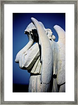 Weeping Angel Framed Print by KC Moffatt
