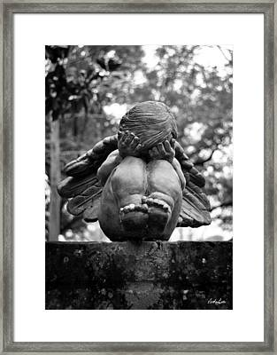 Weeping Child Angel Framed Print