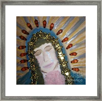 Weeping  Lady Of Guadalupe Framed Print