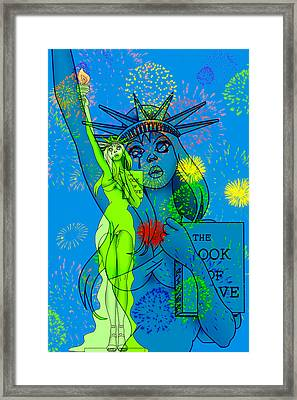 Weeping Liberty Framed Print