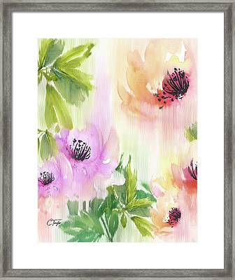 Framed Print featuring the painting Weeping Rose Forest by Colleen Taylor