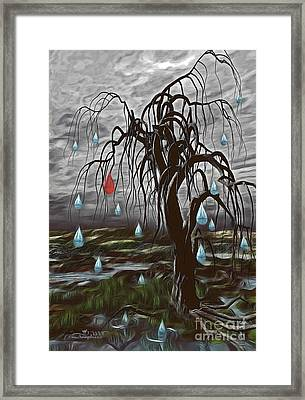 Weeping Tree Framed Print by Jutta Maria Pusl
