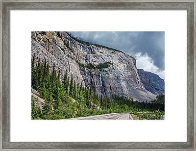 Weeping Wall Banff National Park Framed Print