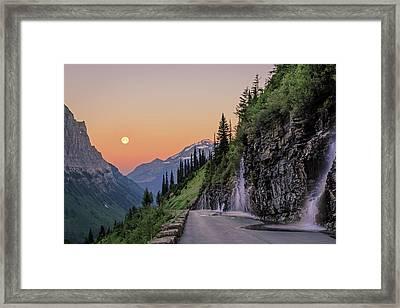 Weeping Wall Dawn Framed Print