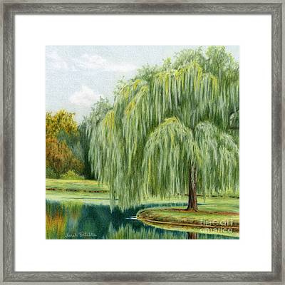 Under The Willow Tree Framed Print by Sarah Batalka