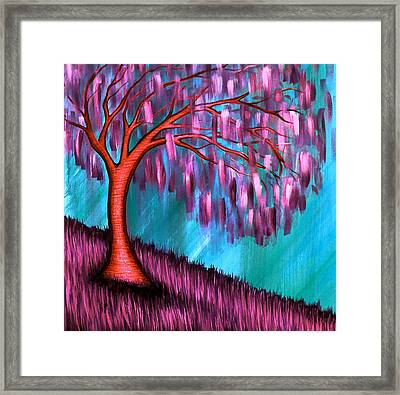 Weeping Willow II Framed Print by Brenda Higginson