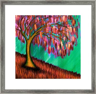 Weeping Willow IIi Framed Print by Brenda Higginson