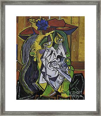 Picasso's Weeping Woman Framed Print