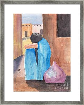 Weeping Woman  Framed Print by Susan Kubes
