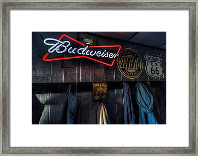 Weezys Route 66 Bar And Grill Framed Print by Kevin Schuchmann