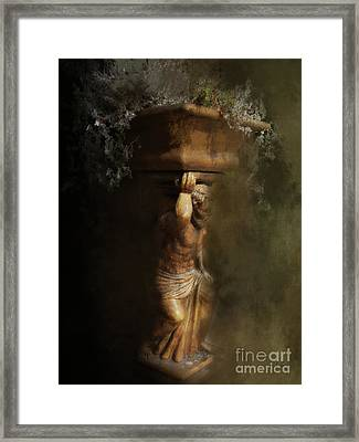 Weight Of The World Framed Print by Anita Faye