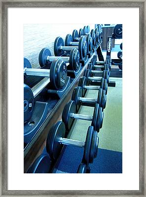 Weights Vertical Framed Print