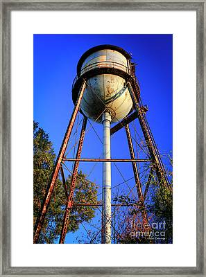 Framed Print featuring the photograph Weighty Water Cotton Mill  Water Tower Art by Reid Callaway