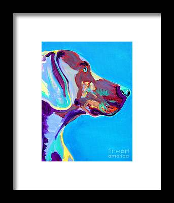 Weimaraner Framed Prints