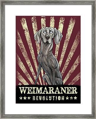 Weimaraner Revolution Framed Print
