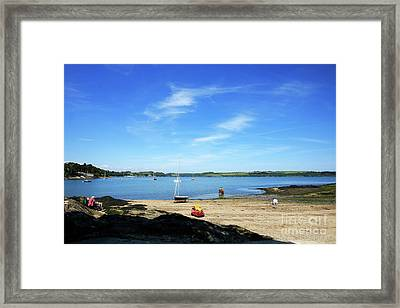 Weir Beach Restronguet Cornwall Framed Print by Terri Waters