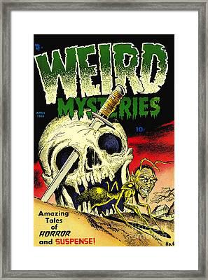 Weird Mysteries 1950s Horror Comic Book Framed Print