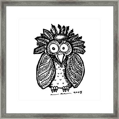 Weird O Bird Framed Print by Karl Addison