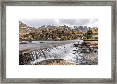 Weirs Rapids Snowdonia Framed Print