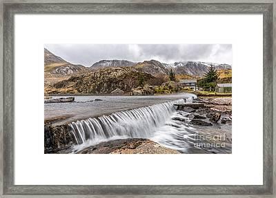 Weirs Rapids Snowdonia Framed Print by Adrian Evans