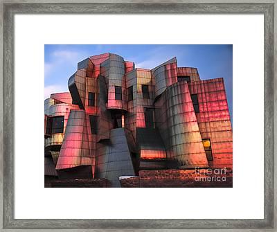 Weisman Art Museum At Sunset Framed Print