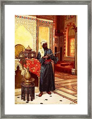 Weisse Rudolph Le Garde Du Harem Framed Print