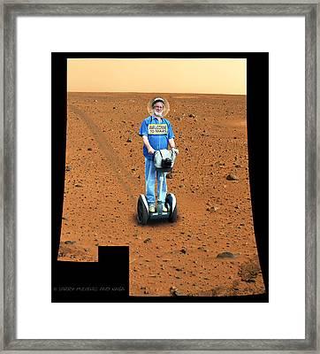 Welcom To Mars Framed Print