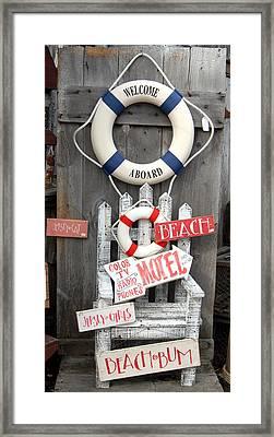 Welcome Aboard Framed Print by Joyce StJames