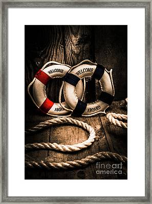 Welcome Aboard The Dark Cruise Line Framed Print