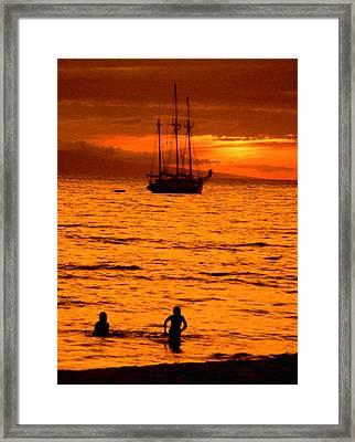 Welcome Ashore Framed Print