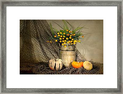 Welcome Autumn Framed Print by Diana Angstadt