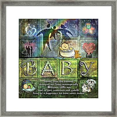 Welcome Baby Framed Print by Evie Cook