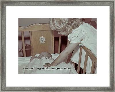 Welcome Baby Quote Framed Print by JAMART Photography