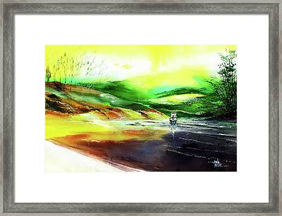 Framed Print featuring the painting Welcome Back by Anil Nene