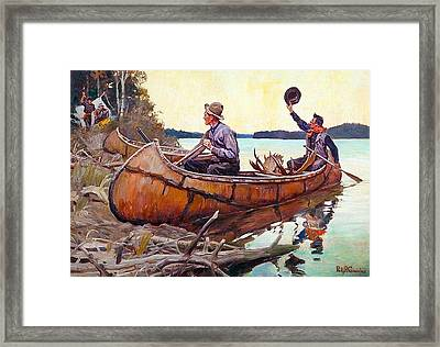 Welcome Back To Camp Framed Print by Philip R Goodwin