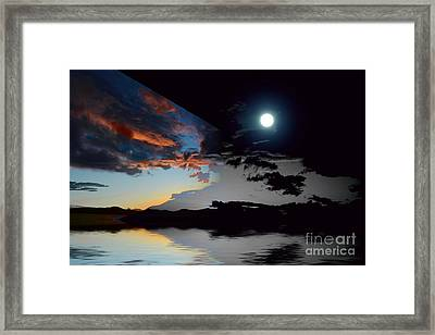 Welcome Beach Day And Night 2 Framed Print