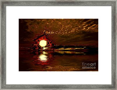 Welcome Beach Sunset 2 Series 1 Framed Print