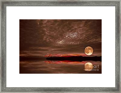 Welcome Beach Supermoon Framed Print