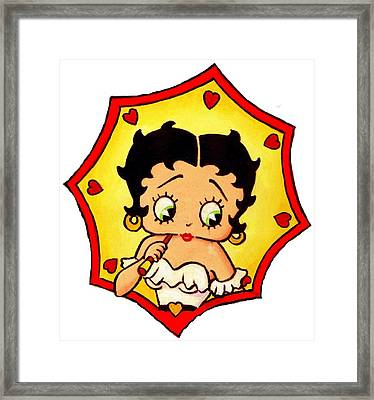Welcome Betty Boop Framed Print