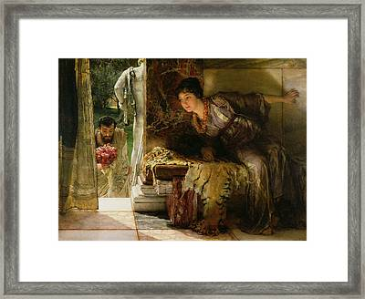 Welcome Footsteps Framed Print by Sir Lawrence Alma-Tadema