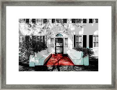 Framed Print featuring the photograph Welcome by Greg Fortier