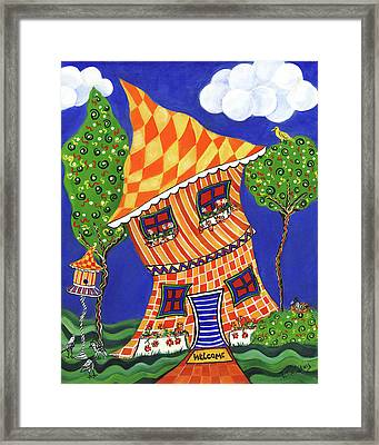 Welcome Home Framed Print by Debbie McCulley