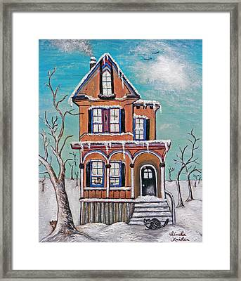 Welcome Home Framed Print by Linda Krider Aliotti
