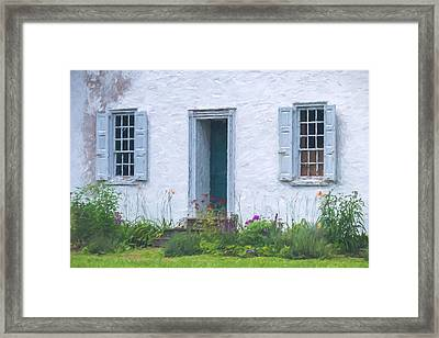 Welcome Home Old Door And Windows Framed Print by Terry DeLuco