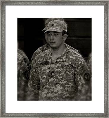 Welcome Home Soldier Framed Print by Aimee Galicia Torres