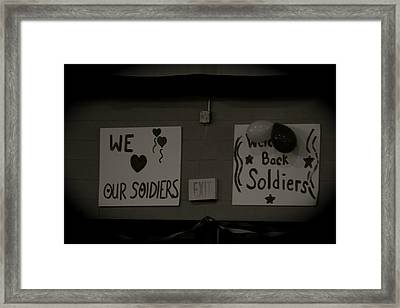 Welcome Home Soldiers Framed Print by Aimee Galicia Torres