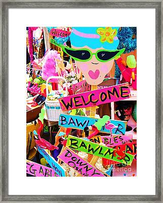 Welcome Hon Framed Print by Debbi Granruth