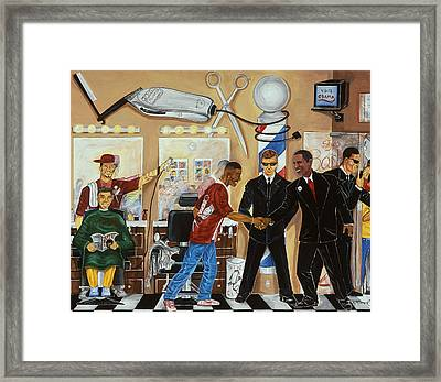 ''welcome Mr.president'' Framed Print by Mccormick  Arts