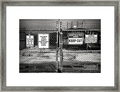 Welcome Framed Print by Olivier Le Queinec